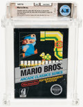 Video Games:Nintendo, Mario Bros. [Hangtab, No Rev-A, Mid-Release] Wata 6.5 CIB NES Nintendo 1986 USA....