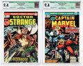 Bronze Age (1970-1979):Superhero, Doctor Strange #2 and Captain Marvel #33 CGC-Graded Group (Marvel, 1974) CGC Qualified NM 9.4 White pages.... (Total: 2 Items)
