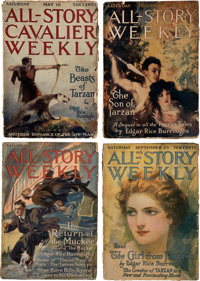 All-Story Weekly - Edgar Rice Burroughs Group of 8 (Munsey, 1914-20) Condition: Average FR.... (Total: 8)