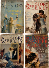 All Story Weekly - Edgar Rice Burroughs-Related Group of 9 (Munsey, 1913-22) Condition: Average FR.... (Total: 9)