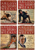 "Pulps:Adventure, Argosy-All Story Weekly ""Tarzan and the Golden Lion"" Group of 7 (Munsey, 1922-23) Condition: Average GD.... (Total: 7 Comic Books)"