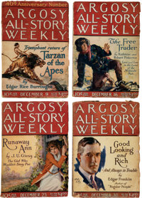 "Argosy-All Story Weekly ""Tarzan and the Golden Lion"" Group of 7 (Munsey, 1922-23) Condition: Average GD.... (T..."