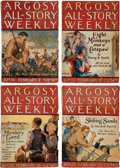 "Pulps:Adventure, Argosy-All Story Weekly ""Tarzan and the Ant-Men"" Group of 7 (Munsey, 1924) Condition: Average VG-.... (Total: 7 Items)"