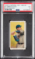 Baseball Cards:Singles (Pre-1930), 1909-11 T206 Sweet Caporal 350 - 460/30 Ed Abbaticchio (Blue Sleeves) PSA EX 5....