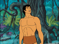 Tarzan, Lord of the Jungle Production Cel (Filmation, c. 1970s)
