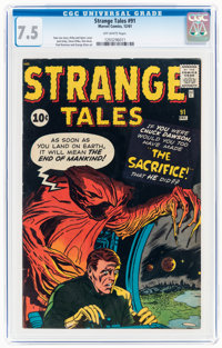 Strange Tales #91 (Marvel, 1961) CGC VF- 7.5 Off-white pages