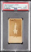 Baseball Cards:Singles (Pre-1930), 1887 N172 Old Judge Jerry Denny (In Jacket, Arms At Sides) PSA EX 5 (MK)....