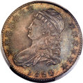 Bust Half Dollars, 1820/19 50C Square Base 2, O-101a, R.3, MS64 PCGS. CAC....