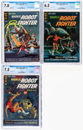 Silver Age (1956-1969):Science Fiction, Magnus Robot Fighter #10, 16, and 19 CGC-Graded Group (Gold Key, 1965-67).... (Total: 3 Comic Books)
