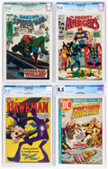 Silver Age (1956-1969):Superhero, Marvel/DC CGC-Graded Silver and Bronze Age Comics Group of 4 (DC/Marvel, 1965-70).... (Total: 4 Comic Books)