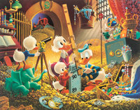 Carl Barks An Embarrassment of Riches Signed Limited Edition Lithograph Print #243/395 (Another Rainbow, 1983)