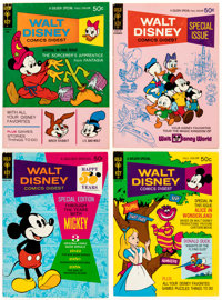 Walt Disney Related Memorabilia Group of 27 (Various Publishers) Condition: Average FN+.... (Total: 27 Comic Books)