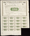 Confederate Notes:Group Lots, Ball 6 Cr. 7 $500 1861 Bond (8);. Ball 9 Cr. 8 $1000 1861 Bond (5).. ... (Total: 13 items)