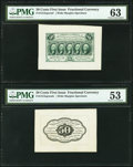 Fractional Currency:First Issue, Fr. 1313SP 50¢ First Issue Wide Margin Pair PMG Graded.. ... (Total: 2 notes)