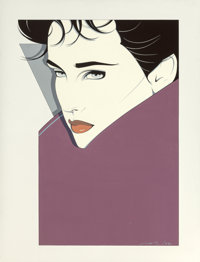 Patrick Nagel (American, 1945-1984) Untitled, 1982 Acrylic on canvas 40 x 30 inches (101.6 x 76.2