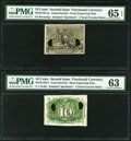 Fractional Currency:Second Issue, Milton 2E10F.2a 10¢ Second Issue Experimental PMG Gem Uncirculated 65 EPQ. Milton 2E10R.4. 10¢ Second Issue Experimental P... (Total: 2 notes)
