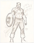 Original Comic Art:Sketches, Ron Garney - Captain America Sketch Original Art (2010)....