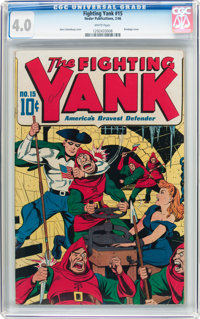 Fighting Yank #15 (Nedor Publications, 1946) CGC VG 4.0 White pages