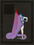 Erté (Romain de Tirtoff) (Russian/French, 1892-1990) The Slave, 1983 Serigraph with metallic ink 34-1/2 x 26-1/8...
