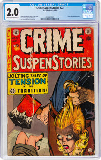 Crime SuspenStories #22 (EC, 1954) CGC GD 2.0 Cream to off-white pages