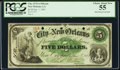 Obsoletes By State:Louisiana, New Orleans, LA- City of New Orleans $5 Jan. 1, 1863 PCGS Choice About New 55.. ...