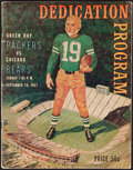 Football Collectibles:Programs, 1957 Packers vs. Bears Program - 1st Game at Lambeau Field & Paul Hornung NFL Debut....