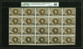 Fractional Currency:Second Issue, Fr. 1232 5¢ Cut Down Uncut Sheet Second Issue PMG Extremely Fine 40.. ...