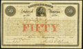Confederate Notes:Group Lots, Ball 11 Cr. 1a $50 1861 Bond Very Fine.. ...
