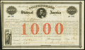 Confederate Notes:Group Lots, Ball 16 Cr. 4 $1000 1861 Bond Extremely Fine.. ...