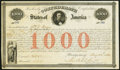 Confederate Notes:Group Lots, Ball 16 Cr. 4 $1000 1861 Bond Very Fine.. ...