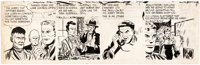 Gene Hughes (attributed) Mike Regan Tryout Comic Strip Unfinished Original Art (c. 1950s). <