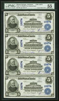 National Bank Notes:Arkansas, Siloam Springs, AR - $5 1902 Plain Back Fr. 611 The First National Bank Ch. # 13274 PMG About Uncirculated 55 Uncut Sh...