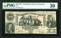 Confederate Notes:1861 Issues, Trans-Mississippi Stamp T20 $20 1861 PF-14 Cr. 143 PMG Very Fine 30.. ...