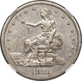Trade Dollars, 1878-CC T$1 -- Improperly Cleaned -- NGC Details. AU....