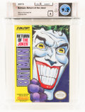 Video Games:Nintendo, Batman: Return of the Joker [Oval SOQ TM] Wata 9.2 A NES Sunsoft 1991 USA....