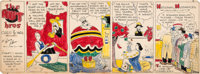 Gene Ahern The Nut Bros., Ches and Wal Sunday Comic Strip Original Art dated 3-4-34 (NEA Service, Inc., 1934)