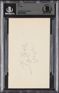 Baseball Collectibles:Others, 1951 Ty Cobb Signed Government Postcard, Beckett Authentic....