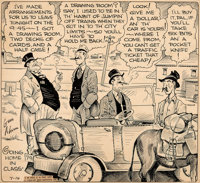 Gene Ahern Our Boarding House with Major Hoople Daily One-Panel Comic Strip Original Art dated 7-14-34 (NEA Servic
