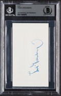 Baseball Collectibles:Others, Hank Greenberg Signed Cut Signature, Beckett Authentic....