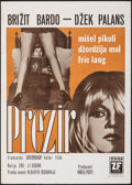 """Movie Posters:Foreign, Le Mepris (Zeta Film, 1963). Folded, Fine/Very Fine. Yugoslavian Poster (19.5"""" X 27.5""""). Foreign.. ..."""
