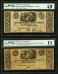 Obsoletes By State:Florida, St. Augustine, FL- Southern Life Insurance & Trust Company $5; $10 Oct. 1, 1836, Faded G8; G10a Benice 4A; 5A PMG Very Fin... (Total: 2 notes)