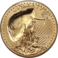 2015 $50 One-Ounce Gold Eagle -- Obverse Indented by Retained Plastic Fragment -- First Strike, MS69 PCGS
