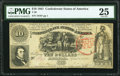 Confederate Notes:1861 Issues, Trans-Mississippi Stamp T30 $10 1861 PF-6 Cr. 242 PMG Very Fine 25.. ...