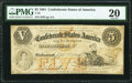Confederate Notes:1861 Issues, T32 $5 1861 PF-2 Cr. 249 PMG Very Fine 20.. ...
