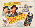 "Movie Posters:Sports, Father Was a Fullback (20th Century Fox, 1949). Rolled, Fine+. Half Sheet (22"" X 28""). Sports.. ..."
