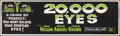 Movie Posters:Crime, 20,000 Eyes (20th Century Fox, 1961). Rolled, Very Fine-.