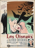 Movie Posters:Hitchcock, The Birds (Universal, 1963). Rolled, Fine-. French...