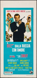 """Movie Posters:James Bond, From Russia with Love (United Artists, R-1970s). Rolled, Very Fine-. Italian Locandina (13"""" X 27.5""""). James Bond.. ..."""