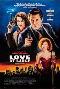 "Love at Large & Other Lot (Orion, 1990). Rolled, Very Fine. One Sheets (3) (27"" X 40"" & 26.75"" X..."