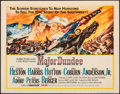 Movie Posters:Western, Major Dundee (Columbia, 1965). Folded, Very Fine-....